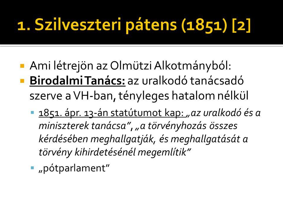 1. Szilveszteri pátens (1851) [2]